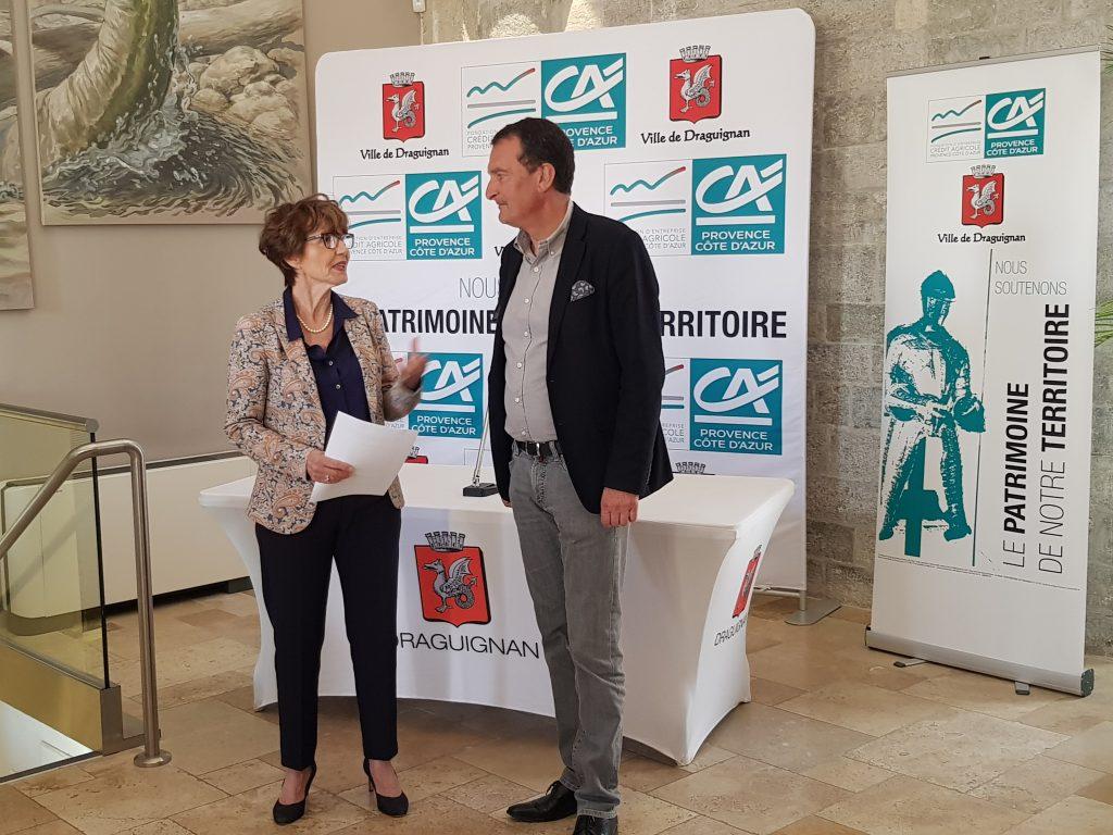 La Fondation Crédit Agricole Provence Côte d'Azur signe une Convention de Mécénat avec la Mairie de Draguignan
