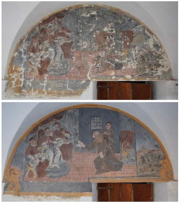 Décors peints rénovés du monastère de Soarge
