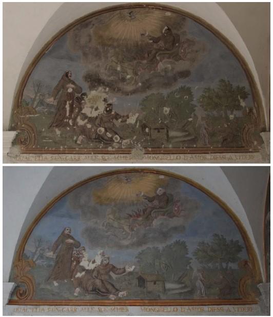 Décors peints rénovés du monastère de Saorge