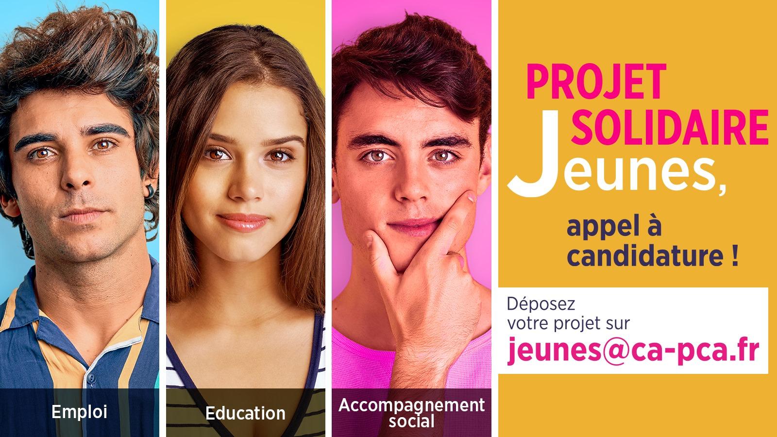 Appel à candidature projet solidaire jeunes Fondation d'entreprise Crédit Agricole Provence Côte d'Azur